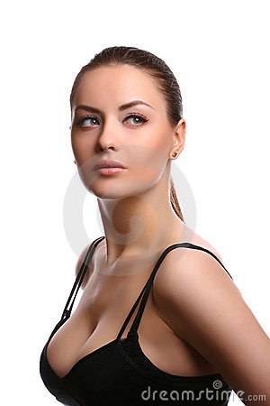 Free Woman Wearing Bra Royalty Free Stock Images - 9415859