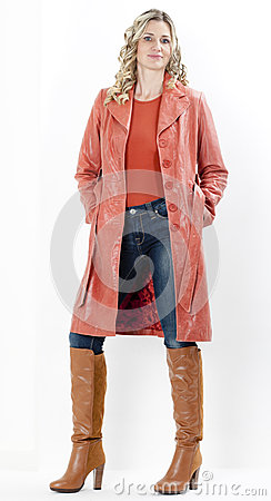 Woman wearing coat