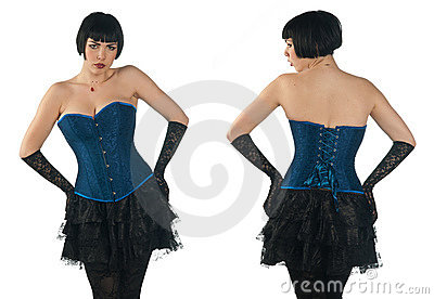 Woman wearing corset