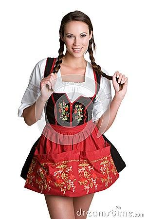 Free Woman Wearing Dirndl Royalty Free Stock Image - 6954986