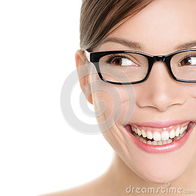 Free Woman Wearing Glasses Looking Happy To Side Stock Photography - 32562942
