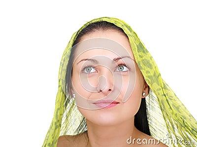 Woman wearing a  kerchief