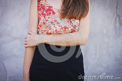 Woman Wearing Red And Green Sleeveless Shirt And Black Bottoms Free Public Domain Cc0 Image