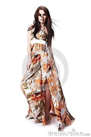 Woman wearing summer dress