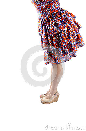 Woman Wearing Sundress and Platform Sandals #1