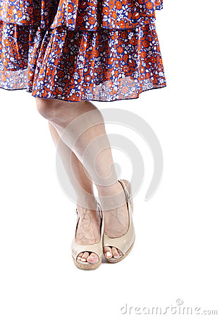 Woman Wearing Sundress and Platform Sandals #2