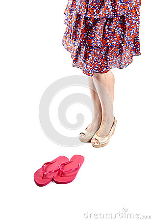 Woman Wearing Sundress and Platform Sandals #3
