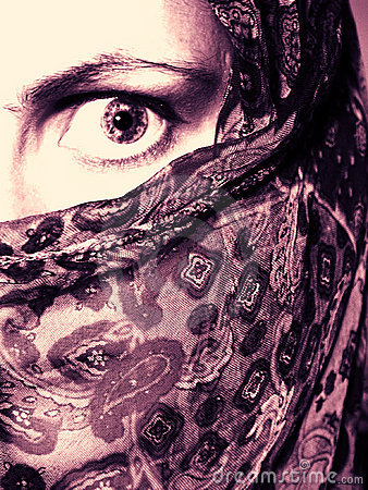 Free Woman Wearing Veil In Fear Royalty Free Stock Photo - 21065