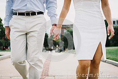 Woman Wearing White Tube Dress Holding Man's Hand Free Public Domain Cc0 Image