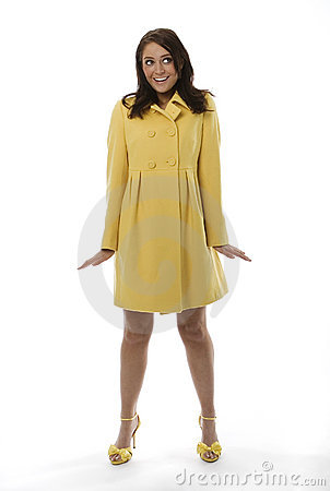 Woman Wearing Yellow Coat