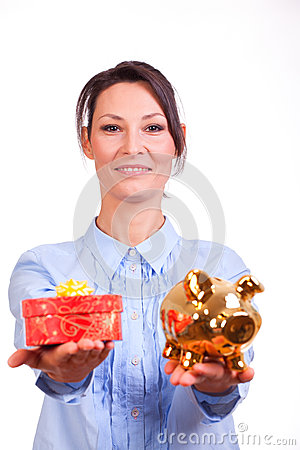Woman whit Christmas Gift box