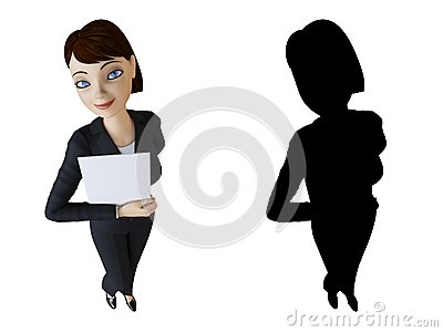Woman And White Panel Stock Photos - Image: 14192473