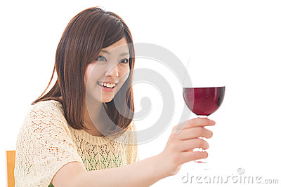 The woman who drinks wine