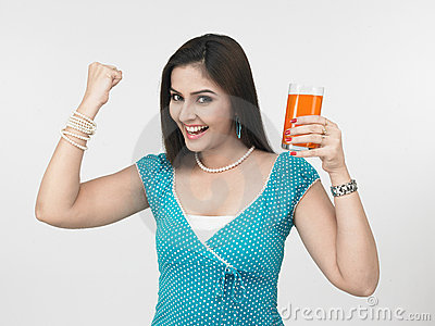 Woman who is health conscious