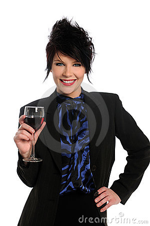 Woman With Wine Glassq