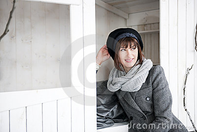 Woman In Winter Clothes