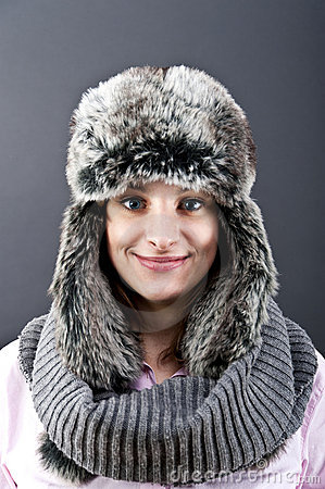 Woman in winter hat