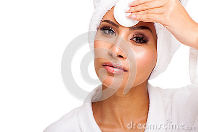 Woman wiping forehead