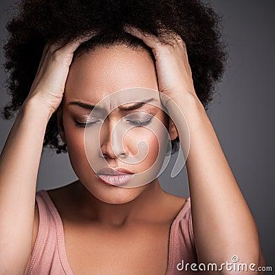 Free Woman With A Headache Stock Photo - 30996740