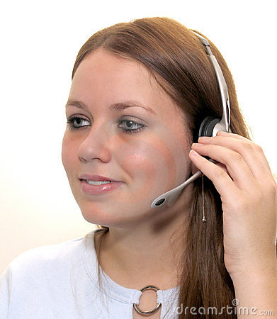 Free Woman With A Headset Royalty Free Stock Image - 24596