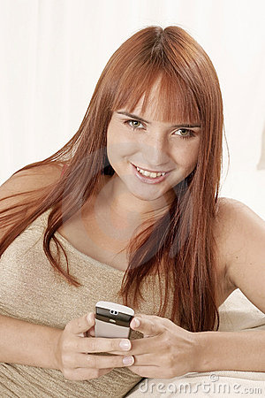 Free Woman With A Phone Stock Photos - 1365223