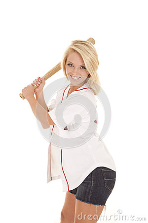 Free Woman With Baseball Bat Royalty Free Stock Photography - 32664937