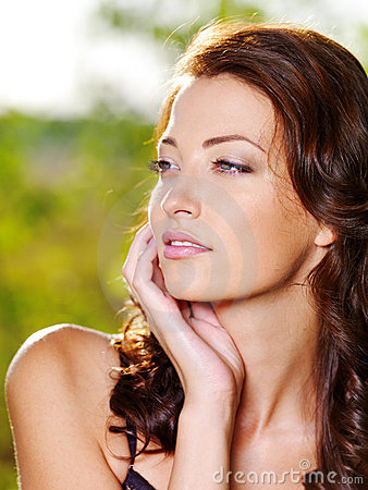 Free Woman With Beautiful Face Outdoors Royalty Free Stock Image - 15469006