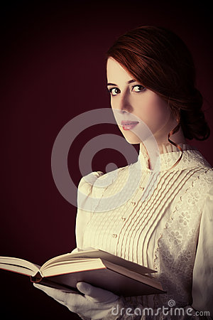 Free Woman With Book Stock Photography - 35239262
