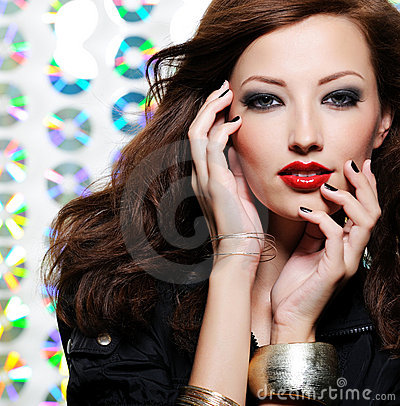 Free Woman With Bright Fashion Eye Make-up Royalty Free Stock Photography - 11571477