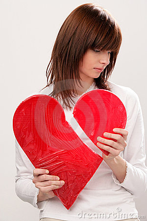 Free Woman With Broken Heart Stock Photography - 12603872