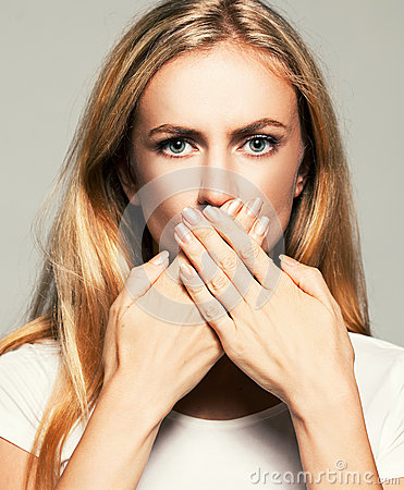 Free Woman With Closed Mouth Royalty Free Stock Photos - 48556398