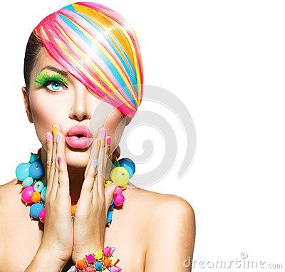 Free Woman With Colorful Makeup Stock Photos - 36479883