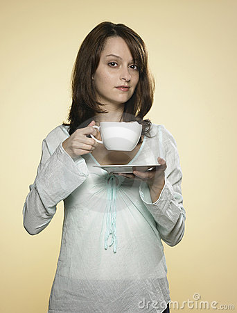 Free Woman With Cup Of Coffee 03 Stock Photo - 8217240