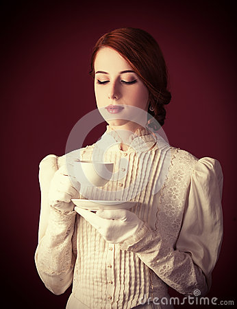 Free Woman With Cup Of Tea Royalty Free Stock Images - 35239269