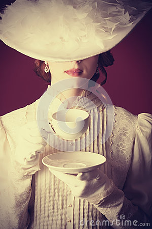 Free Woman With Cup Of Tea Stock Image - 35239271