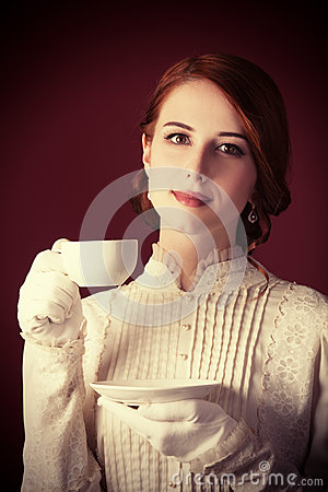 Free Woman With Cup Of Tea Royalty Free Stock Images - 35239279
