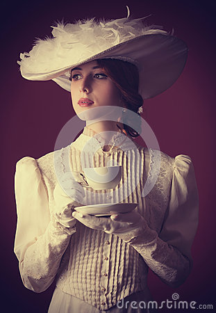 Free Woman With Cup Of Tea Stock Photos - 35239283
