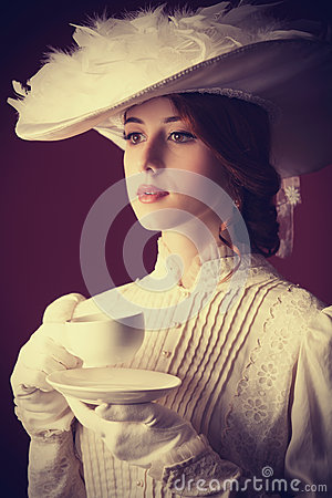 Free Woman With Cup Of Tea Royalty Free Stock Photo - 35239285