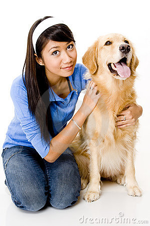 Free Woman With Dog Stock Photography - 1118412