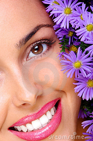 Free Woman With Flowers Stock Photos - 3453153