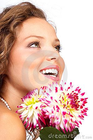 Free Woman With Flowers Royalty Free Stock Photography - 4386897