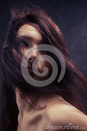 Free Woman With Fluffy Hair Royalty Free Stock Photos - 53087258