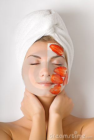 Free Woman With Fruit Mask Royalty Free Stock Photography - 4718107