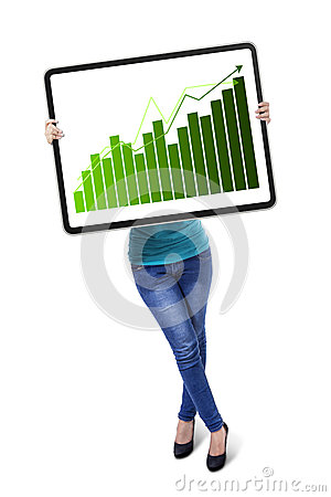 Free Woman With Growth Graph Royalty Free Stock Images - 34732659