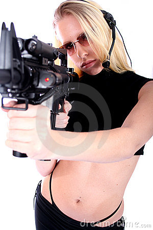 Free Woman With Guns Stock Photo - 736350