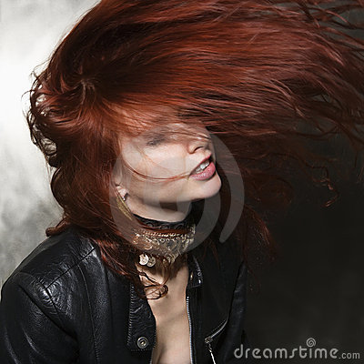 Free Woman With Hair Blowing. Royalty Free Stock Photo - 3469555
