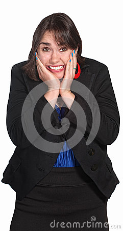 Free Woman With Hands On Face Stock Photography - 25530522