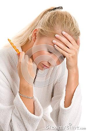 Free Woman With Headache Stock Photos - 28915443