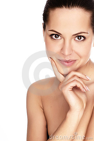 Free Woman With Health Skin Of Face Royalty Free Stock Photography - 9189477