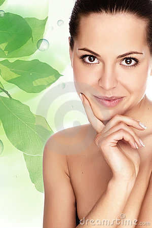 Free Woman With Health Skin Of Face Royalty Free Stock Photos - 9597018